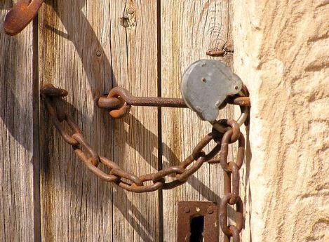 closed stall door